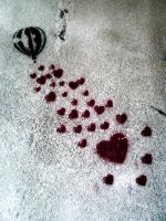 Hearts on the wall... by JustGeorgie