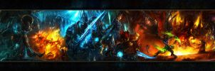 Epic WoW Wallpaper by M4xC4v413r4