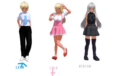 MMD LEON,LOLA,MIRIAM(Own Designs)! by Ryad2006