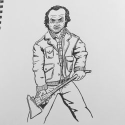 Inktober 2016, Day 3 - Jack Torrance by EricAndersonCreative