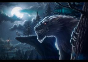Werewolves near the Village by Gallardose