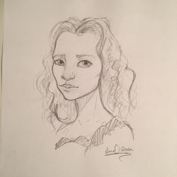 Alice caricature sketch by droppingravityfalls