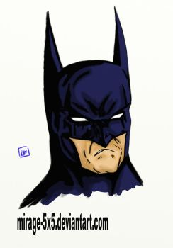 BATMAN portrait by MIRAGE-5X5