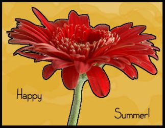 Happy Summer Postcard by ColorfulGreyscale