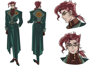 kakyoin character outfit 2 Sheet Back by zinni