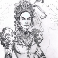 Penny Dreadful Vanessa Ives pencils by MichaelDooney