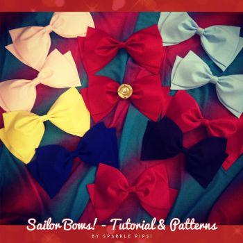 Sailor Bows! - Tutorial and Patterns by SparklePipsi
