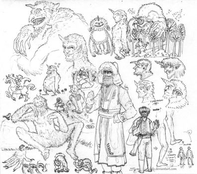 Shurale sketches by 42Ly