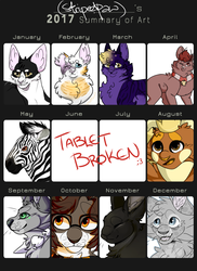 2017//Art Summary by StripedPaws