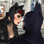 Catwoman x Batman Face to Face
