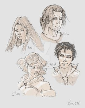 Name of the wind characters sketch by ElenaGonzalez624