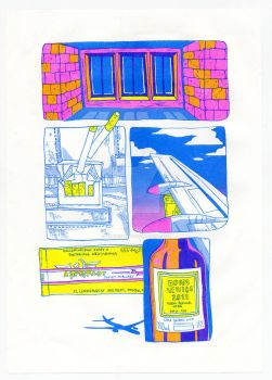 packet of cigarettes risograph by reminisense