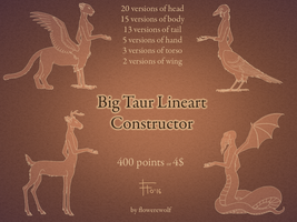 Big Lineart Taur Constructor by flowerewolf
