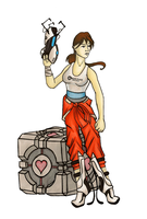 Chell by FoxInShadow