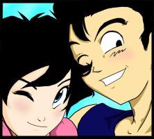 Gohan and Videl by chronicdoodler