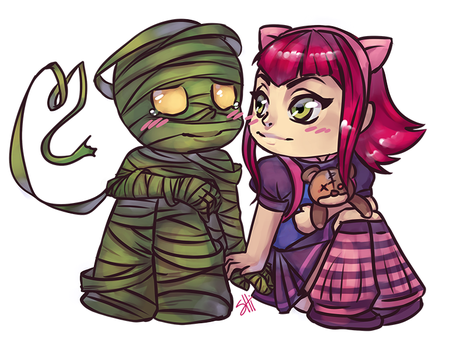 [Commission] Amumu and Annie by ShiChel