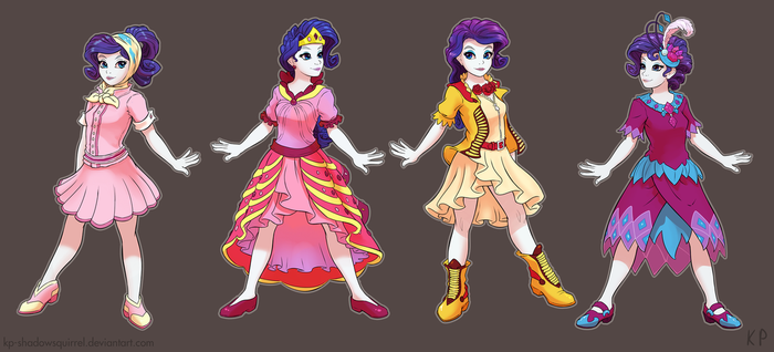 Rarity's Dresses by KP-ShadowSquirrel
