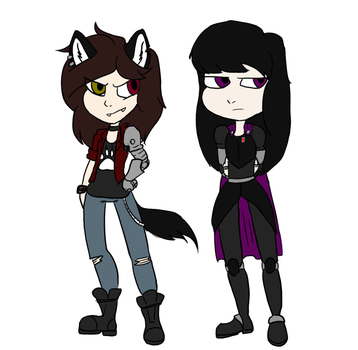 Tori and Violet by ToriFross