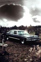 Supernatural '67 Chevy Impala iPhone Wallpaper by xerix93