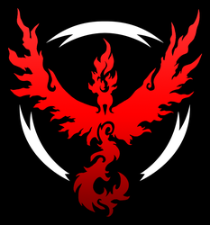 Pokemon Go: Team Valor shirt design by kaizerin
