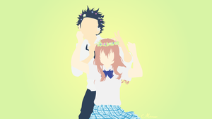 Shouko and Shouya from Koe No Katachi by matsumayu