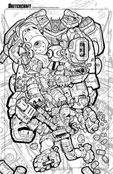 First Strike 06 Variant Cover Art - Lineart by RobDuenas