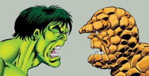 Hulk and Thing... face to face by Simon-Williams-Art
