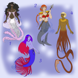 Mermaids Adopts - set prices (OPEN) by hinarin