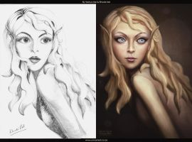Pixie Face Before and After (Yeshua Nel  Rhode Ne by YeshuaNel