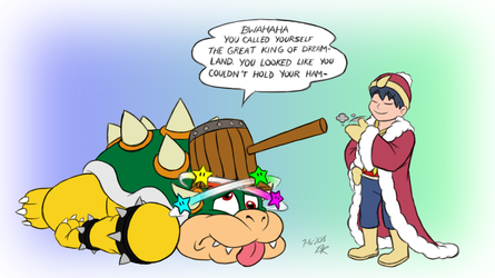 Bowsers Gets Hammered by RetroUniverseArt