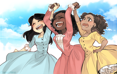 The Schuyler Sisters! by Capochiino