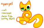 new oc, nyanyel by kittydogcrystal