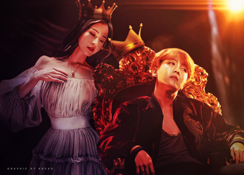 Jhope Speed Art - King and Queen by Ann-ArcaD