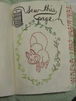 Sew this page - Wreck this Journal by JennyArchibald