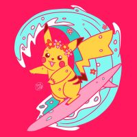 Catch That Wave, Surfing Girl! by SnackyBoy