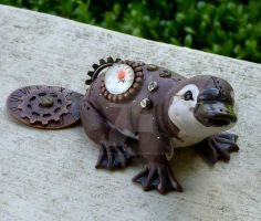 Steampunk Platypus by MysticReflections