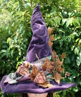 Enchanted Autumn Witch Hat by mermaidencreations
