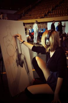 At Festival of Drawing by Sarazation