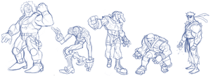 Street Fighters Sketch by pietro-ant