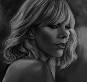 Charlize Theron sketch 2 by tonyob