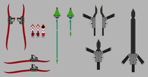 RWBY OC Weapons: Team BANA by CheshireJ69
