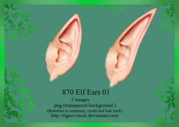 870 Elf Ears 01  by Tigers-stock