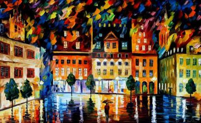 In The Old City 2 by Leonid Afremov by Leonidafremov