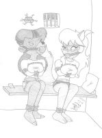 Rebecca and Callie by Limpurtikles