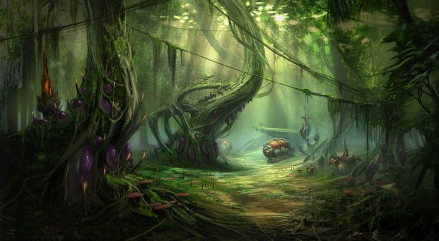 Alien Jungle by MeckanicalMind