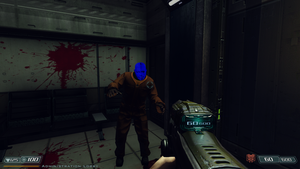 Blue Head Zombie Glitch on latest  BFG  Ed HD Mod by Hoover1979