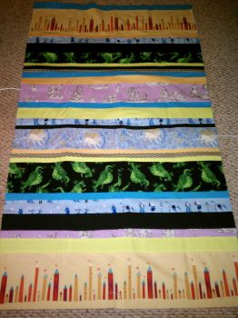 Fantasy Strip Quilt Topper by Eliea