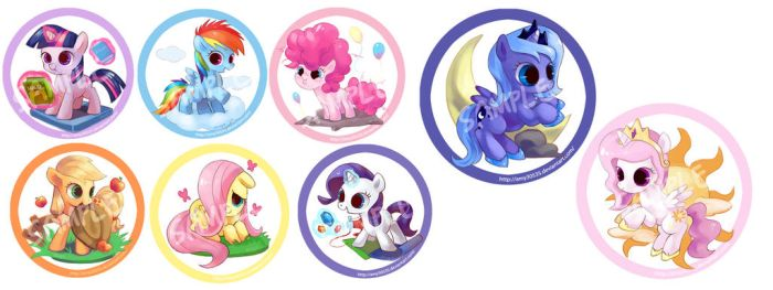 Filly badge series---DONE! by amy30535