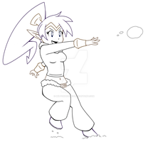 Snowball Fight Shantae | Lines by Miltonholmes
