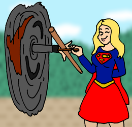 Supergirl Spins Danvers commission by PariahExileWrath
